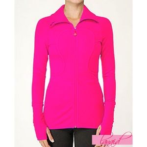 Lululemon Long Lulu Lux Jacket Bon Bon Hot Pink 6